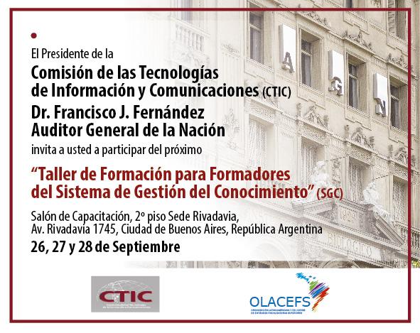 La CTIC informa sobre realización del Taller del Sistema de Gestión del Conocimiento
