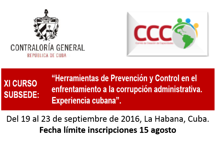 Convocatoria al XI Curso Subsede en Cuba, año 2016
