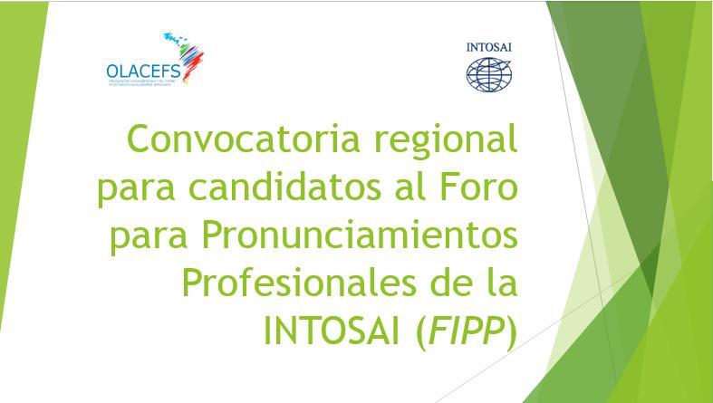 Convocatoria regional FIPP 2017