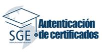 SGE-Autenticación de certificados