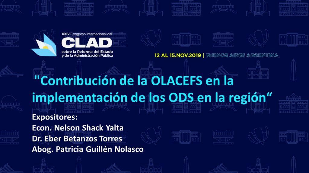 OLACEFS participa en el Congreso Internacional del CLAD
