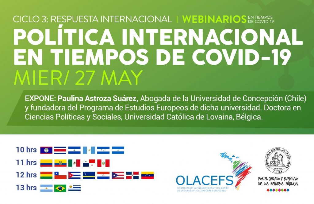 Invitación a sexta sesión de #WebinariosCOVID19 donde abordaremos: Política Internacional en la pandemia