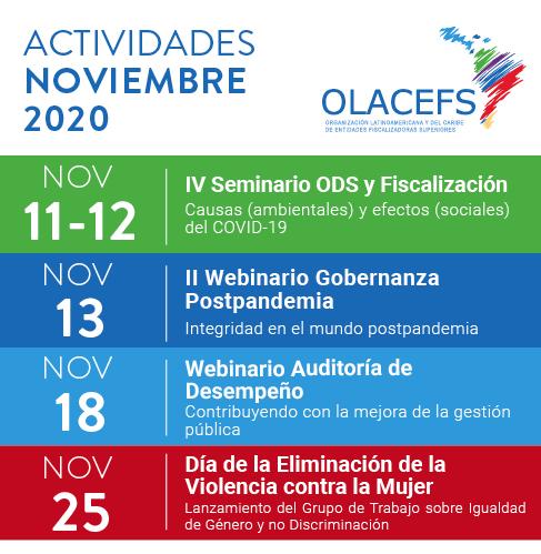 OLACEFS informa de las actividades programadas para noviembre de 2020