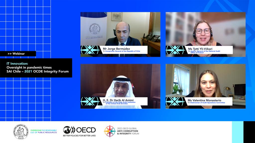 EFS de Finlandia, Emiratos Árabes Unidos y Chile comparten experiencias sobre tecnología e innovación en pandemia