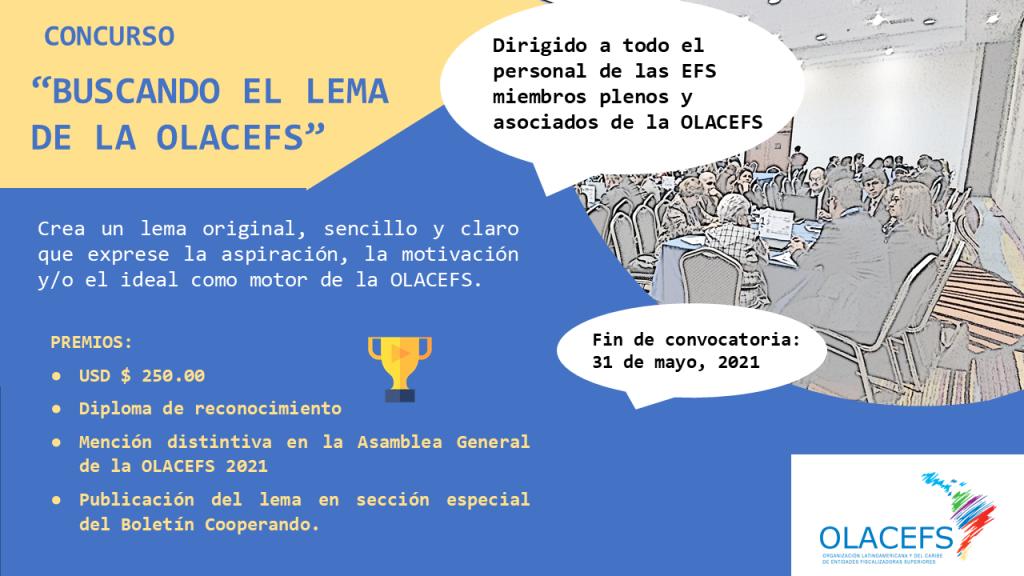 """Invitación a participar en concurso regional de OLACEFS """"Buscando el lema de la OLACEFS""""."""